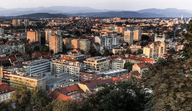 Ljubljana z Ljubljanskega gradu