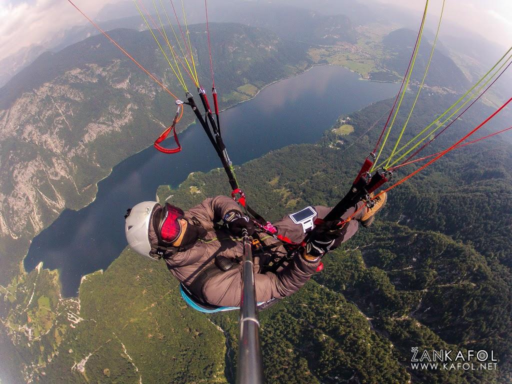Letenje nad Bohinjskim jezerom