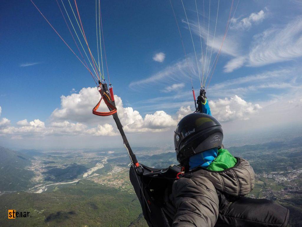 Jadralno padalstvo - letenje v Bassano del Grappa