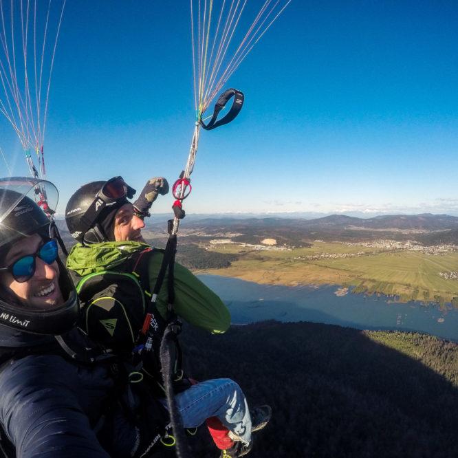 Selfi - tandemski polet z jadralnim padalom